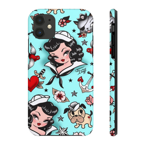 Suzy Sailor Girl on Light Blue • Phone Case