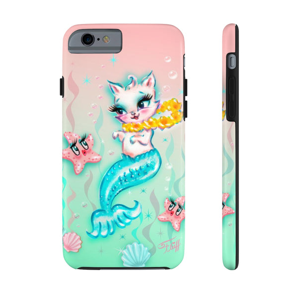 Merkitten with Lei and Starfish • Phone Case
