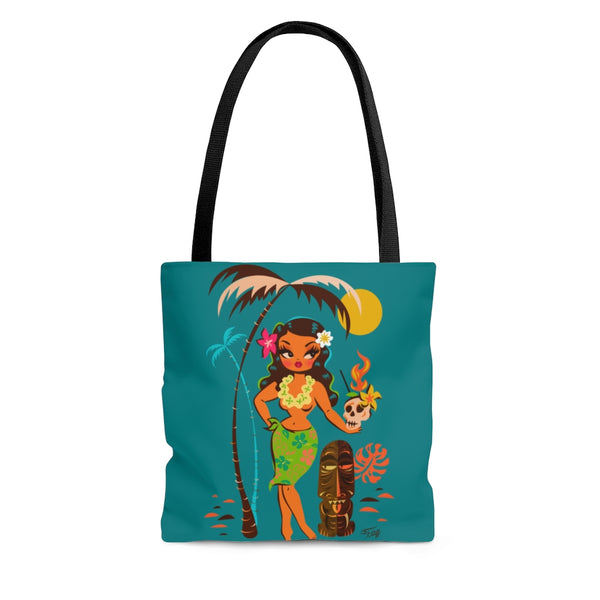 Tiki Temptress • With Skull Mug • Tote Bag
