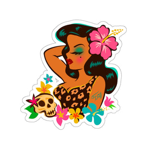 Tiki Temptress - Tropical Doll • Kiss-Cut Sticker