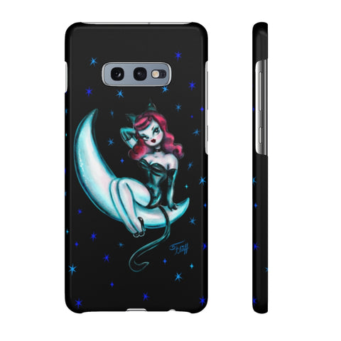 Kitten on the Moon • Samsung Galaxy Phone Case