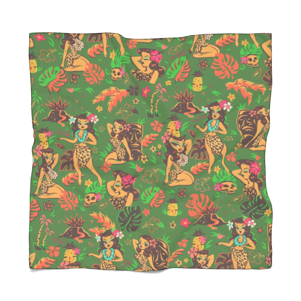 Tiki Temptress on Green • Chiffon Scarf