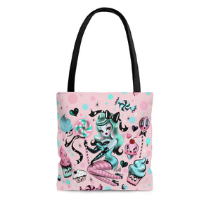 Pink Sugar Pinup Doll • Tote Bag