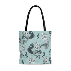 Pearla on Sea Foam • Tote Bag