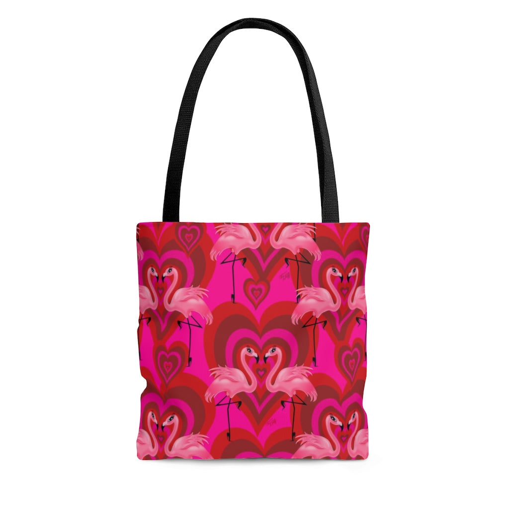 Flamingo Love Pattern • Tote Bag