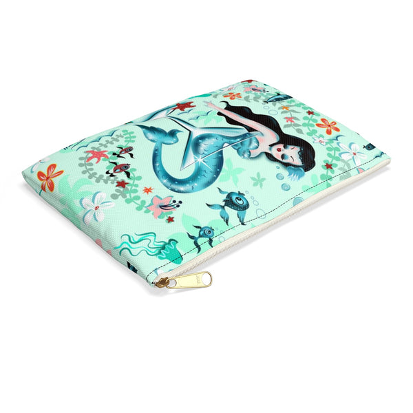Tipsy Mermaid • Carry All Pouch - Flat