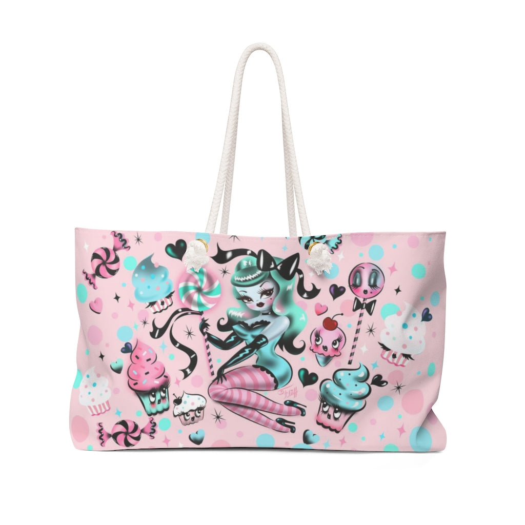 Mint Sugar Pinup Doll • Weekender Bag