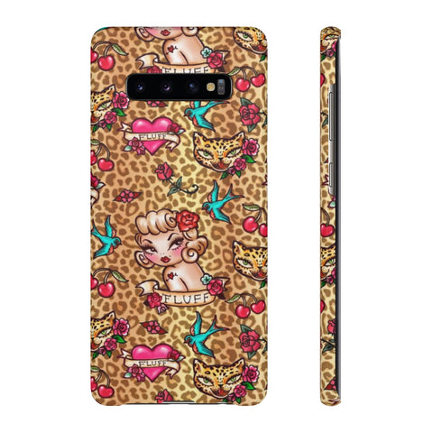 Lady Leopard Tattoo Flash • Samsung Galaxy Phone Case