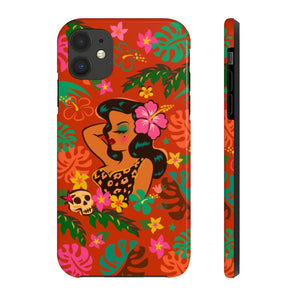 Tiki Temptress - Tropical Doll • Phone Case
