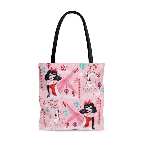 Christmas Pinup Girl • Tote Bag