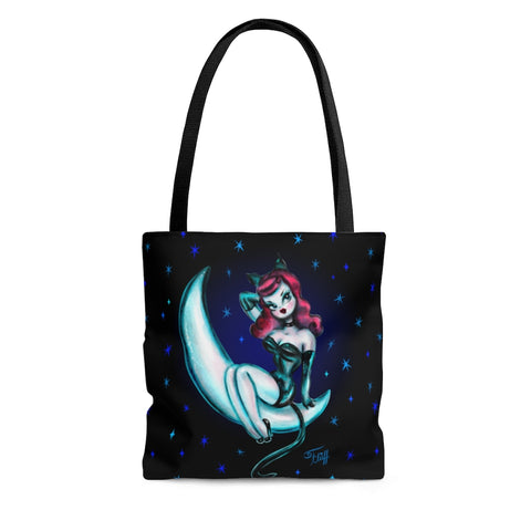 Kitten on the Moon • Tote Bag