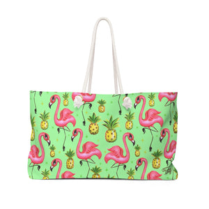 Flamingos and Pineapples • Weekender Bag
