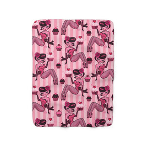 Cupcake Girl • Sherpa Fleece Blanket