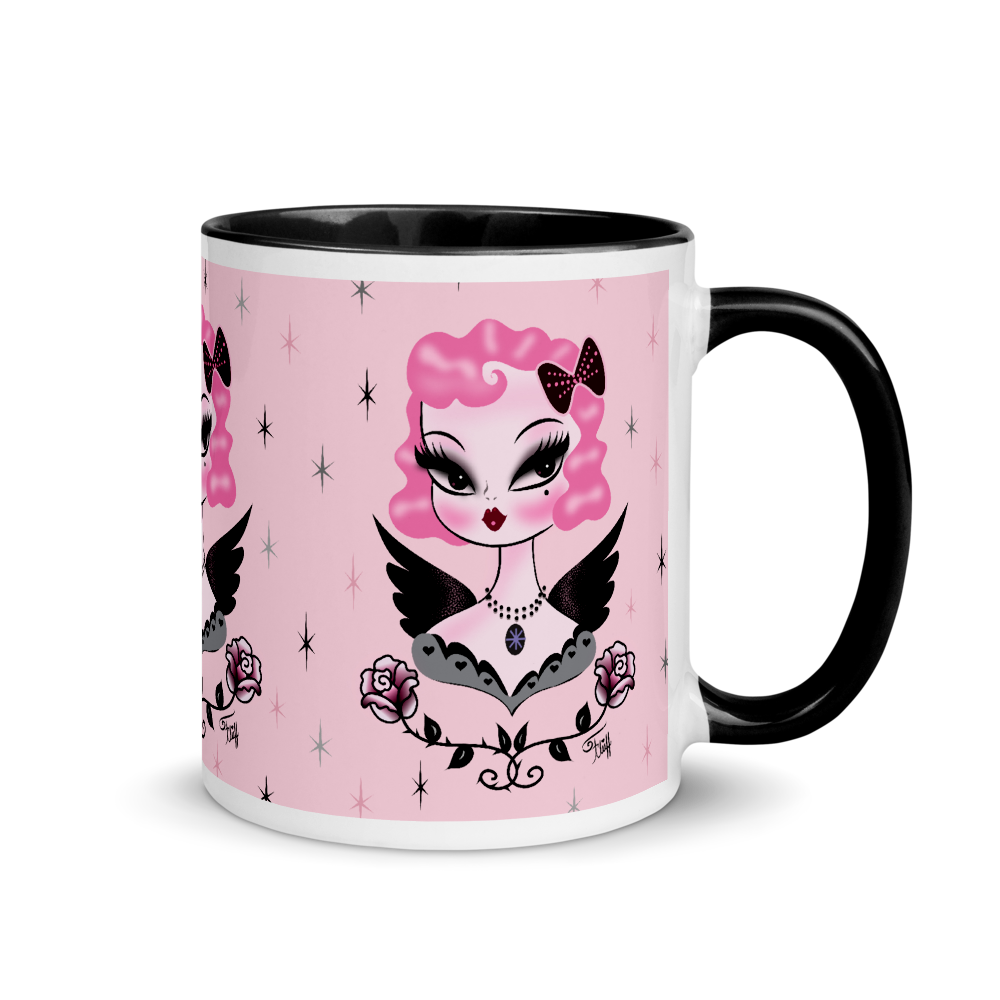 Pink Hair Dolly Angel • Mug