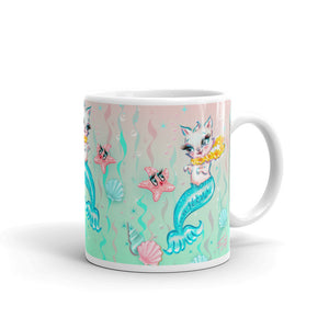 Merkitten with Lei and Starfish • Mug
