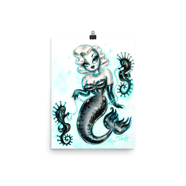 Blonde Glam Mermaid • Art Print