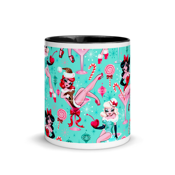 Christmas Candy Martini Pinup Girls • Mug
