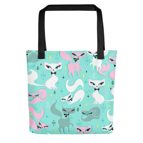 Swanky Kittens on Mint • Tote Bag