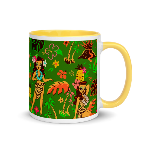 Tiki Temptress on Green • Mug