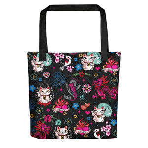 Lucky Kitty • Tote Bag
