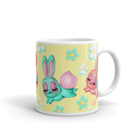 Bunnies and Daisies • Mug