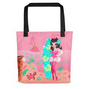 Hawaii Burlesque Festival Beach Bunny • Tote Bag