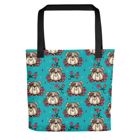 Bulldogs and Roses • Tote Bag