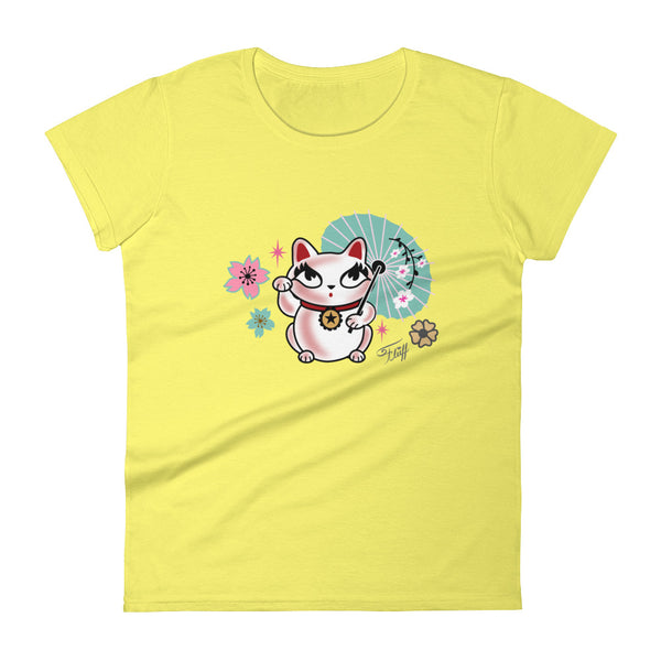 Lucky Kitty • Women's Short Sleeve T-Shirt