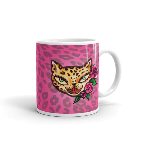 Leopard Kitty • Mug