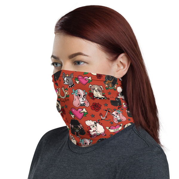Tattoo Pooch Red • Neck Gaiter Face Mask