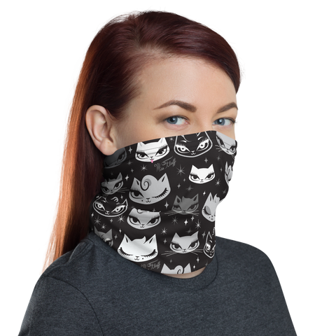 Billy Cats Black • Neck Gaiter Face Mask