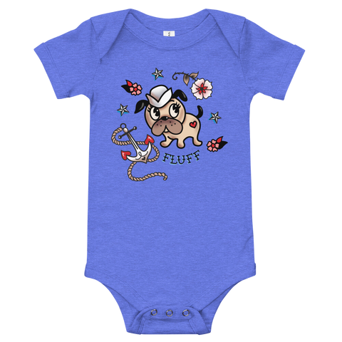 Monty Sailor Dog • Baby Onesie
