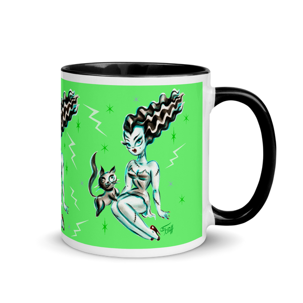 Bride of Frankenstein with Igor Kitty • Mug