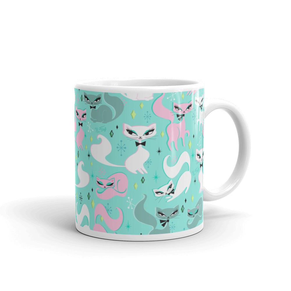 Swanky Kittens on Mint • Mug