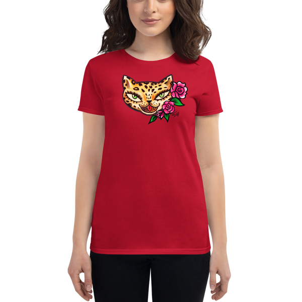 Leopard Kitty • Women's Tee