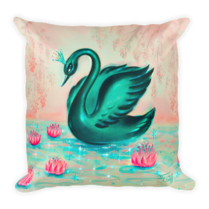 Black Swan • Square Pillow