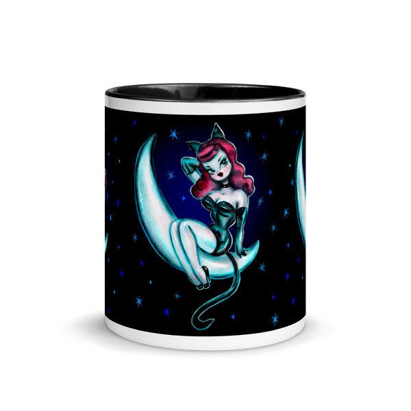 Kitten on the Moon • Mug