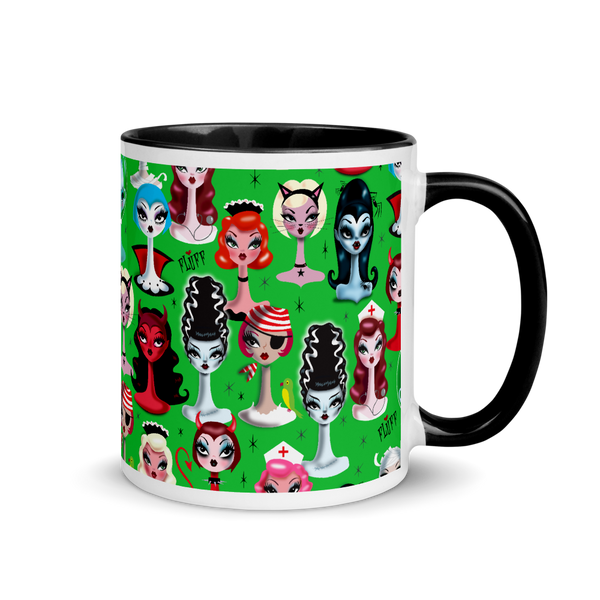 Spooky Dolls Green • Mug