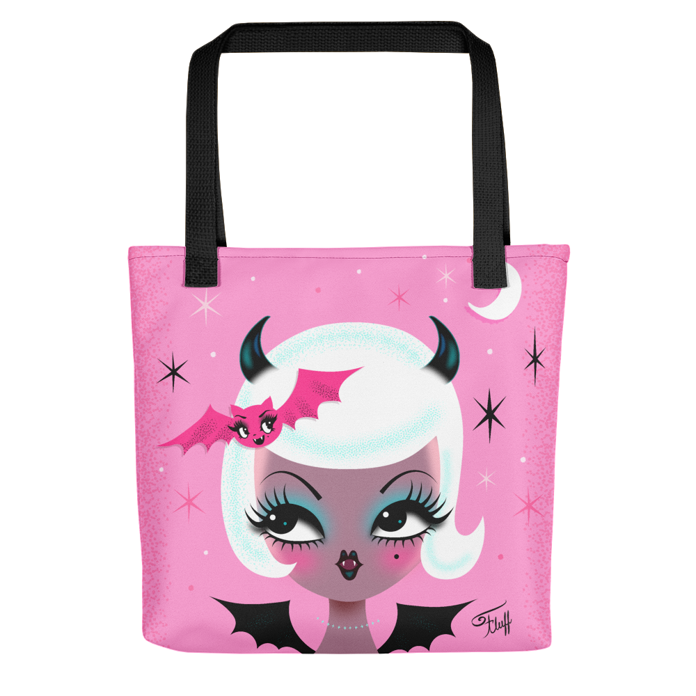 Vampire Dolly with Cute Bat • Tote bag