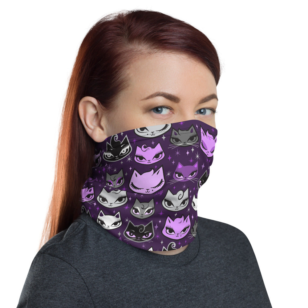 Billy Cats Purple • Neck Gaiter Face Mask