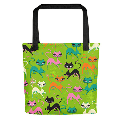 Prancing Kittens on Lime • Tote bag