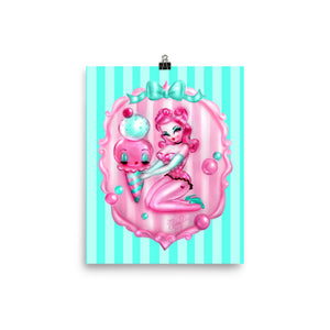 Bubblegum Ice Cream Pin Up Girl • Art Print