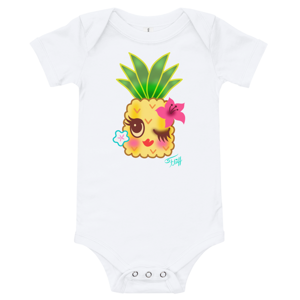 Happy Kawaii Pineapple • Baby Onesie