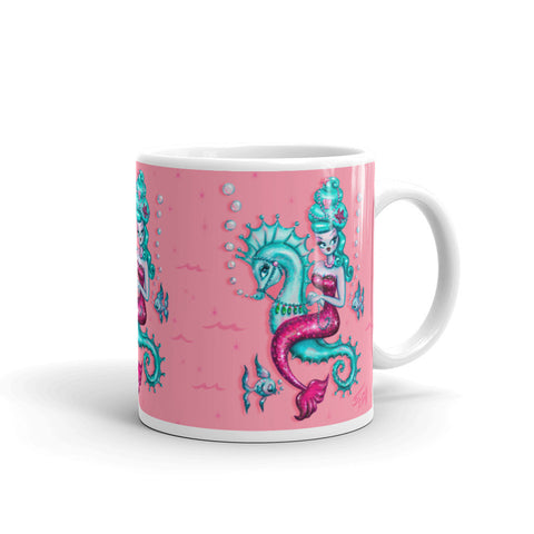 Mermaid with Candy Blue Bouffant • Mug