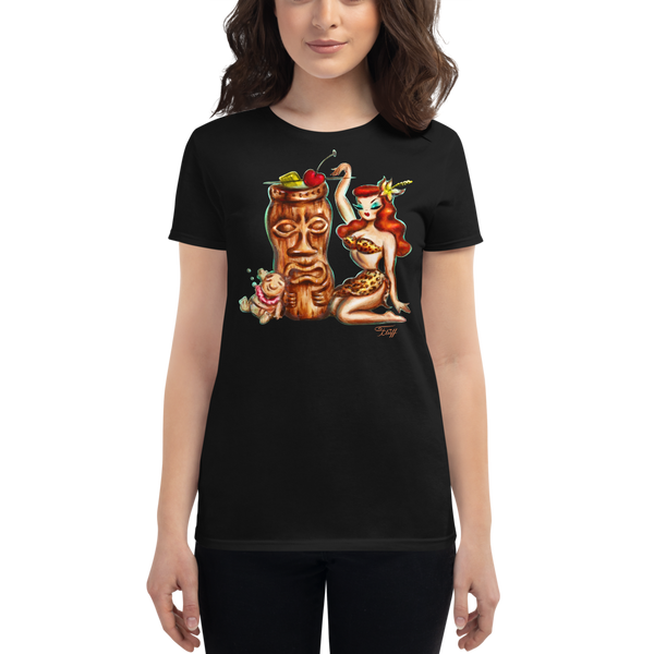 Tiki Mug Girl • Women's Tee