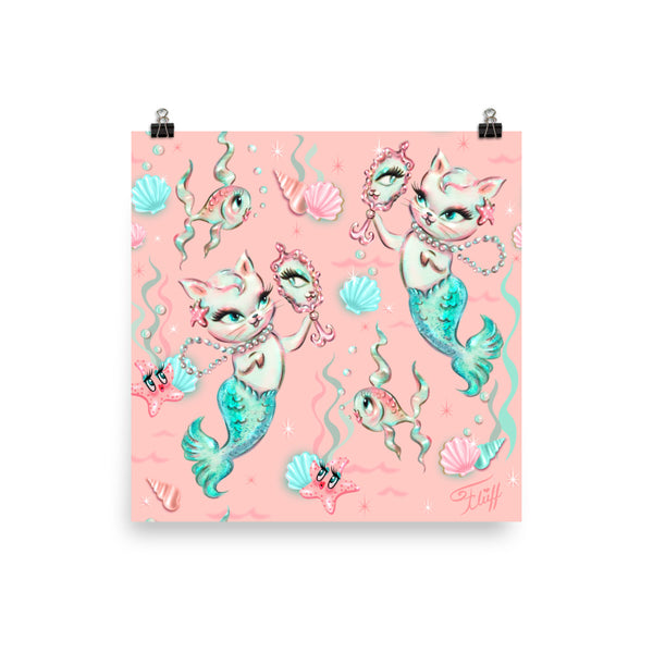 Merkittens with Pearls • Art Print
