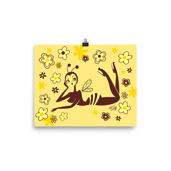 Bee Girl Lounging • Art Print