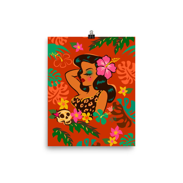Tiki Temptress - Tropical Doll • Art Print