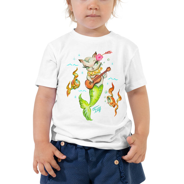 Merkitten with Ukelele • Toddler Short Sleeve Tee
