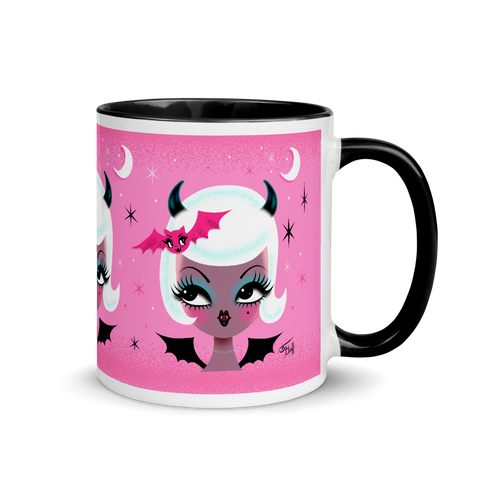 Vampire Dolly with Cute Bat • Mug
